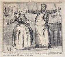Honore Daumier France 1808-1879 Lithograph Actualites No 502 Nous voila libre