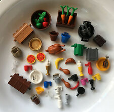 Lego Lot FOOD DISHES MINIFIGURE ACCESSORIES Apple Banana Ice Cream Float Pizza