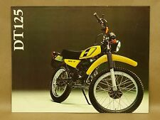 Vtg Yamaha DT125 Enduro Motorcycle Dirt Bike Brochure Specs English & French