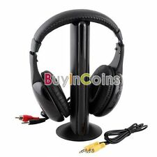 Superior 5 in 1 Hi-Fi Wireless Headset Headphone Earphone for TV DVD MP3 PC USDF