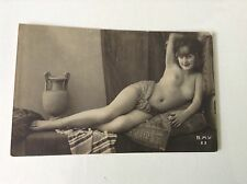 Russian Or French Risque Nude Vintage 1920s photo postcard