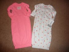 NEW NWT Carter's Girls Preemie 2 Pack Sleeper Gowns butterfly/floral gorgeous