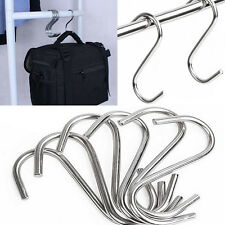 10X Popular Steel S Hooks Hanging Pot Pan Hanger Utensil Garage Clothes Holder