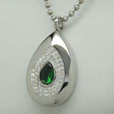 TEAR CREMATION URN NECKLACE EMERALD GREEN CREMATION JEWELRY MEMORIAL KEEPSAKE