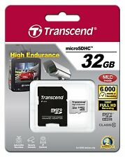 GENUINE Transcend High Endurance 32GB micro SDHC Card with Adapter Class10 MLC