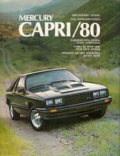 Mercury Capri 1980 USA Market Sales Brochure RS Turbo RS Ghia