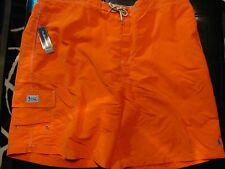 NEW 4XL BIG 4XB 4XLB Ralph Lauren POLO Swimsuit ORANGE w BABY BLUE PONY $70