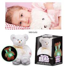 Tobar Rubor adorable oso Noche Luz Suave Peluche Juguetes Brilla bebé a dormir Relax