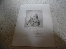 1815.Portrait Louis XVIII.Gravure 28/37cm.Gounod.Richomme