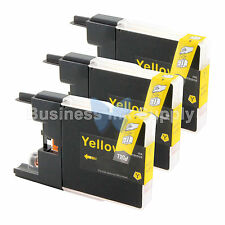 3 YELLOW LC71 LC75 Compatible Ink Cartridge for Brother LC75Y HIGH YIELD LC71Y