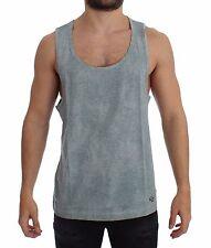 NWT $160 DOLCE & GABBANA D&G Light Blue Logo Sleeveless T-shirt Pullover IT48 /M