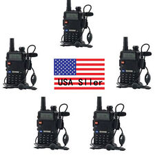 5x Baofeng UV-5R V/UHF 136-174/400-520M Dual-Band Two-way Ham Radio Transce