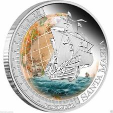 Tuvalu 2011 Ships That Changed The World- SANTA MARIA 1oz Silver Proof Coin RARE