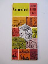 31 Page Advertising 1965 CONNECTICUT Travel Guide Booklet Pamphlet