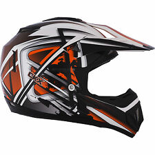 NEW XL Kimpex CKX TX529 Off Road Motocross Helmet Leak Orange Black #B256