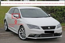 SEAT LEON MK3 GENUINE OE RH OR LH WING MIRROR COVER 2013-2016 (NEW) PAINTED