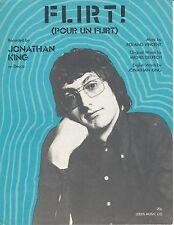 Flirt - Jonathan King - 1971 Sheet Music