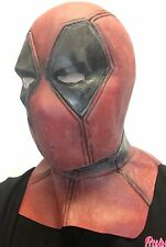 Deluxe Adult Men's Latex Deadpool Mask Fancy Dress Costume Comic Con Superhero