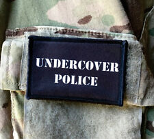 Undercover Police Morale Patch Milspec Tactical Molle Funny Cop Spy