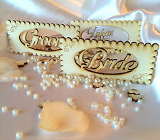 Wedding Personalised wooden name place cards; anniversary; party; table decor