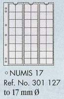 Numis coin pages - Numis 17. 5 sheets & white interleaving.