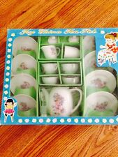 1960'S JAPAN HAND PAINTED TOY CHINA TEA SET OB MINT IN BOX UNPLAYED WITH !!