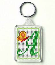 Counted cross stitch Keyring kit, Alphabet Butterfly A