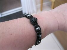 Feng Shui Company Bracelet of Luck with Hematite and Black Crystal Bead BNIB
