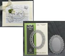 WOODLAND OVAL frame die Poppystamps dies - 1125 All Occasion leaves branches