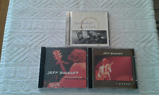 JEFF BUCKLEY 3 CD Lot LIVE AT SIN-E'/LIVE AT BATACLAN/THE GRACE E.P. Ex. Cond.