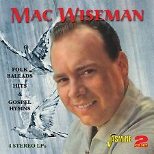 MAC WISEMAN - FOLK BALLADS HITS & GOSPEL 2 CD NEU