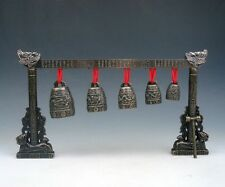 """10"""" Set Metal Dragon Arch Chinese FENG SHUI Chime Bells Gongs Home Decor NEW"""