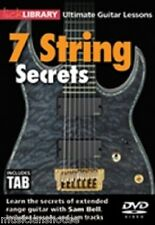 LICK LIBRARY SAM BELL 7 STRING SECRETS LEARN TO PLAY METAL SHRED ROCK Guitar DVD