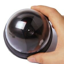 Dummy Fake Surveillance CCTV Security Dome Camera with LED Light FE