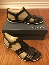 Ecco Flash Huaraches Sandal Coffee Women Leather Comfort Flats Size 11/42