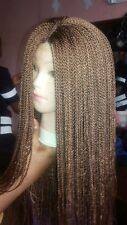 Classic African Full Long Braided Gold Wig