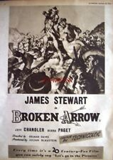 BROKEN ARROW Original 1950 Film Advert - James Stewart Movie Ad