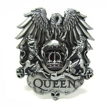 Silver Queen King Crown Metal Belt Buckle Men Vintage Rock Group Freddie Mercury