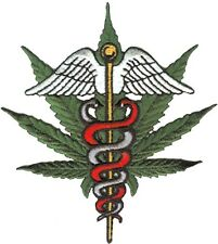 HEMP medical marijuana (leaf/wings) PATCH **FREE SHIPPING** iron/sew on -c p3555