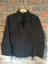 Zara Basics Womens Black Cotton Blouse XL