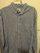 J Crew Long Sleeve Button Shirt Men's XL Baby Blue Navy White Gray Pinpoint