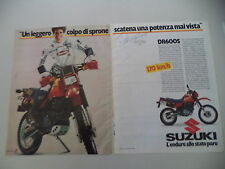 advertising Pubblicità 1985 MOTO SUZUKI DR 600 S e MICHELE RINALDI