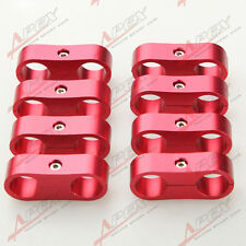 8PCS AN6 6AN 13.5MM Billet Fuel Hose Red Hose Separator Fittings Adapter