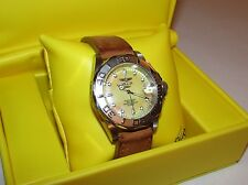 Invicta Pro-Diver Sapphire Crystal Champagne MOP Women's Watch New Battery Case