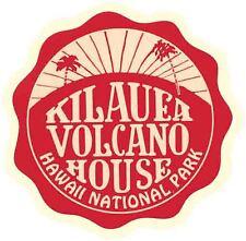 Kilauea Volcano House Hawaii Vintage Looking Travel Decal  Luggage Label Sticker