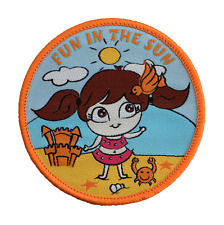 1 Summer sun blanket badge girlguides girlguide guides brownies rainbows patch