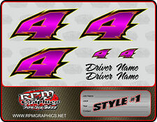 CUSTOM RACE CAR NUMBERS SETS