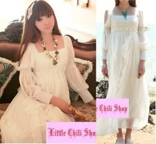 Kawaii Princess Cute Sweet Dolly Wedding Party Lolita Chiffon Lace Long Dress