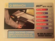 Safe Cracking Copier OHMSS #7 Q Branch - 007 James Bond Spy Files Card