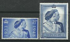 GREAT BRITAIN. 1948. Silver Wedding Set. SG: 493/94. Mint Never Hinged.